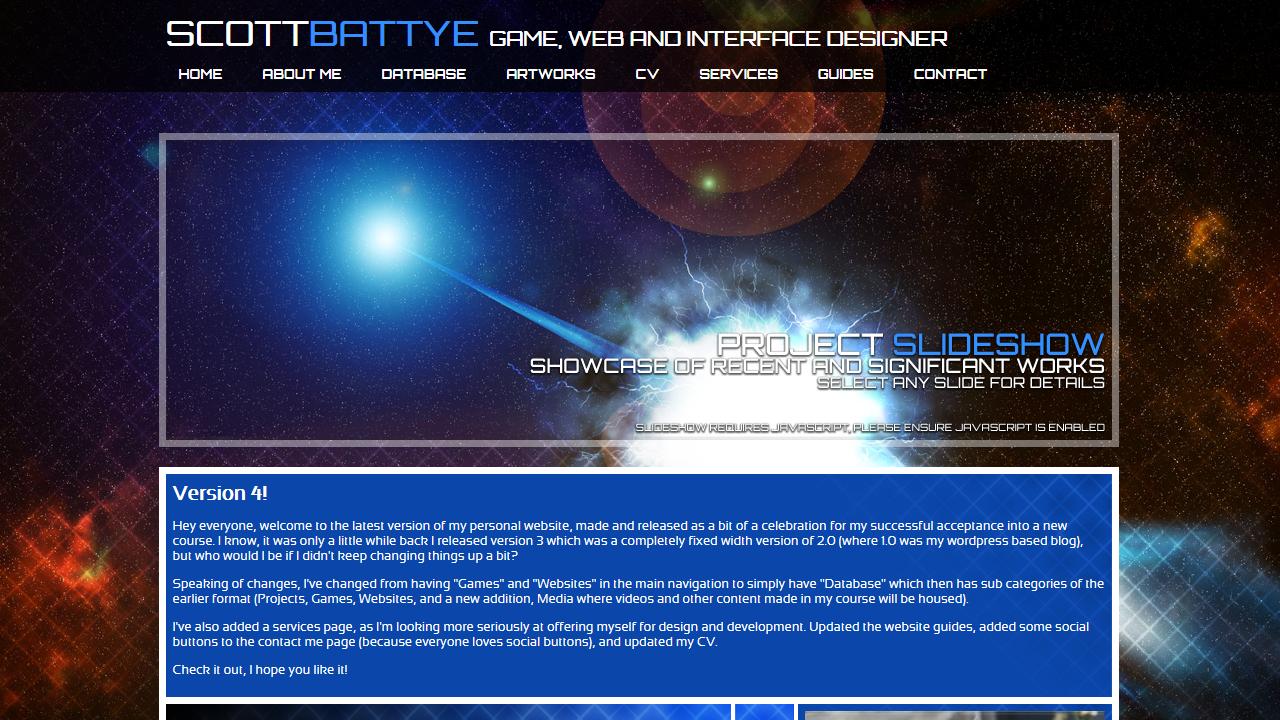 Personal Website Circa 2010